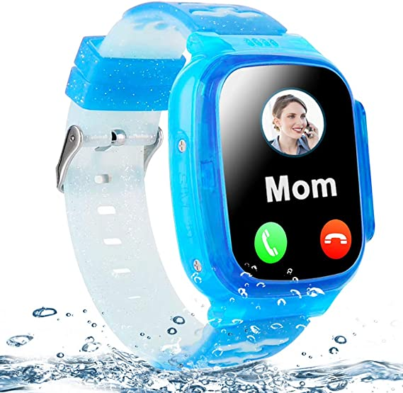 Kids Smart Watch Waterproof GPS Tracker Phone Watch for Boys Girls Age 4-12