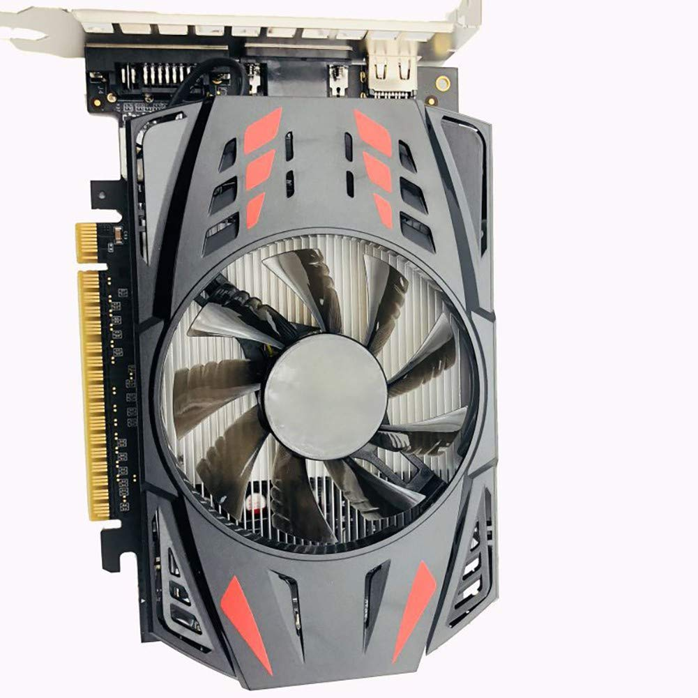 Angmile Computer Components Compatible with GTX550TI Upgrade Card GTX 1050Ti 4GB Practical Durable Cooling Fan Host Graphics Card Manufacturing Process 14NM by Angmile