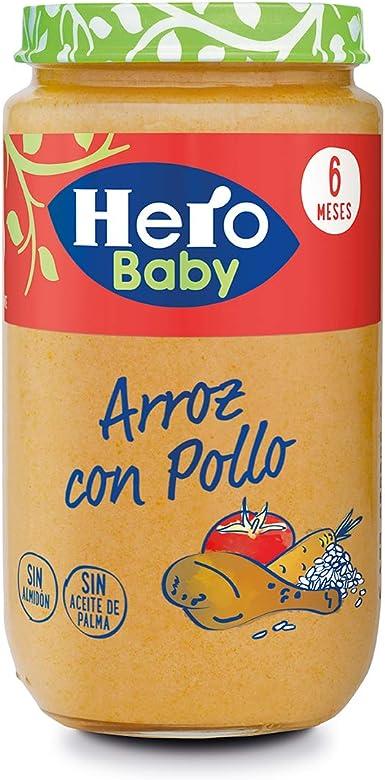Hero Baby Natur Potito de Arroz con Pollo para bebés a partir de 6 meses 235 g: Amazon.es: Alimentación y bebidas