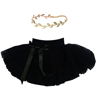 e3adf013d Amazon.com  Baby Tutu and Gold Headband Set for First Birthday ...