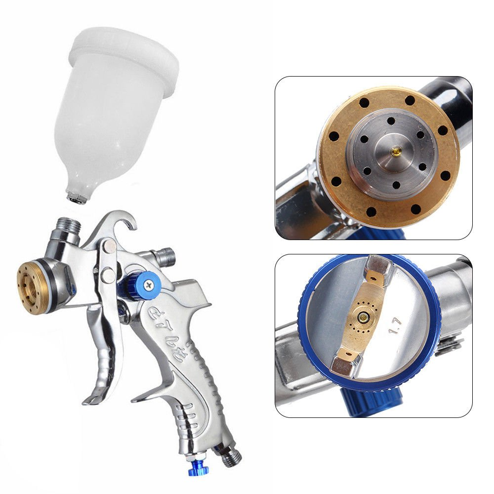 Air Spray Gun HVLP Kit 2.0mm Nozzle Set Paint Touch Up Gravity Feed Atomization by TFCFL (Image #5)
