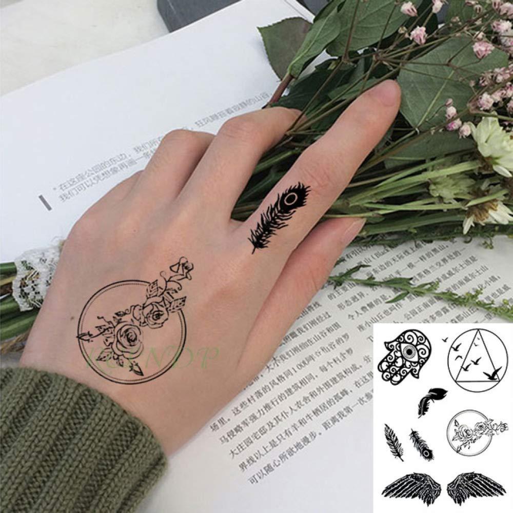 ljmljm 5 Piezas Impermeable Tatuaje Pegatina Mortal Halloween Lord ...