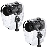 Neewer rain-cover-coat-dust-secure fit, waterproof camera protector, rain cover for Canon, Nikon, Sony, Pentax, Olympus, Samsung, Fuji, and other DSLR cameras (2 pieces)