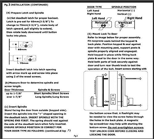 All Weather Mechanical Keyless Deadbolt Door Lock