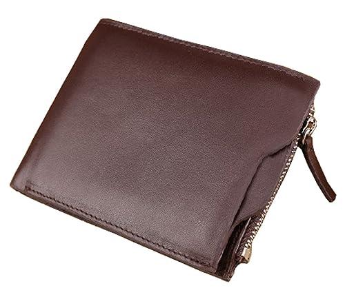 d3119c93b4 SAIERLONG Uomo Portamonete Portafogli portafoglio borsellino Caffè  Orizzontale Pelle Di Mucca: Amazon.it: Scarpe e borse