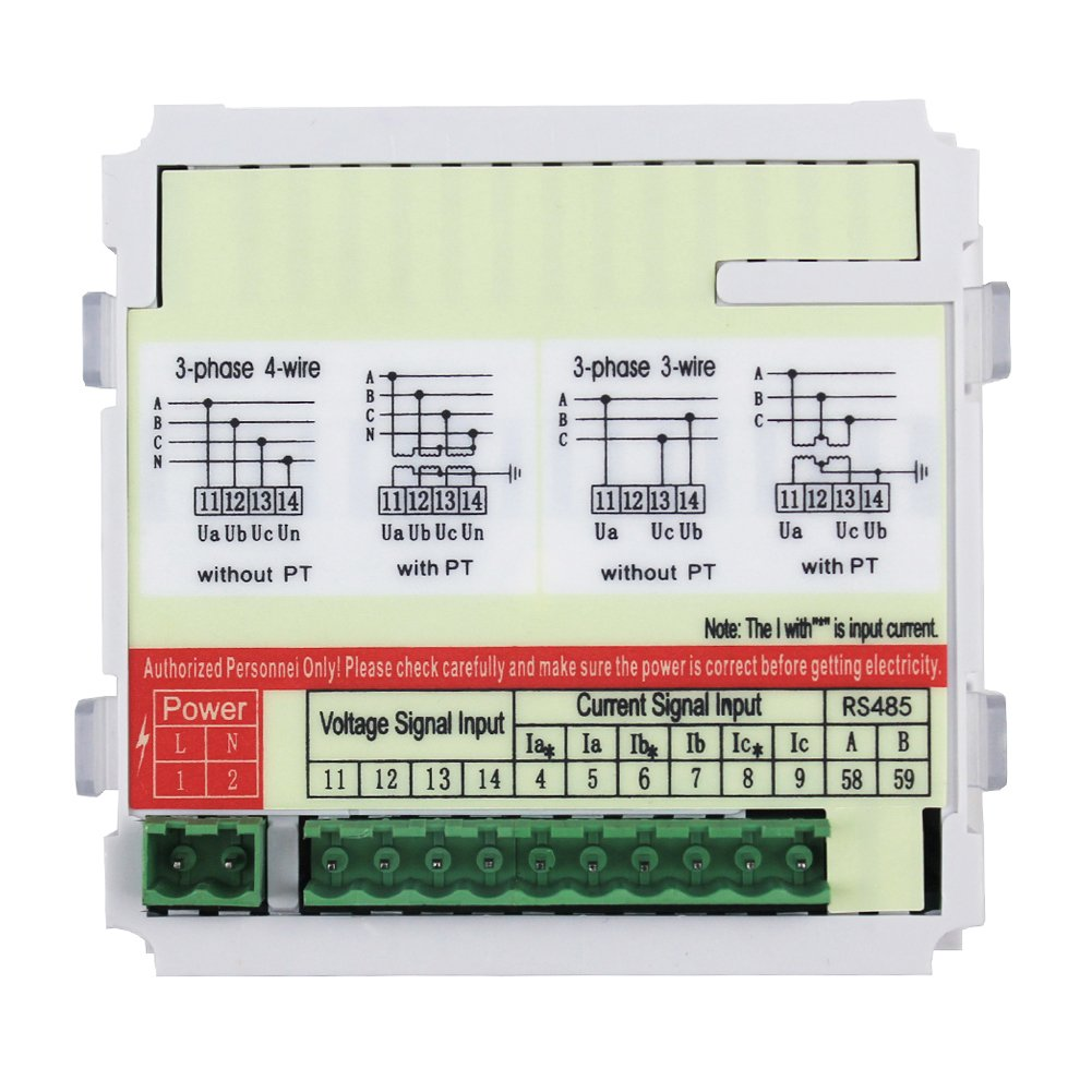 Morning Group 3 Phase LED Digital Display Multifunction Current Voltage Frequency Meter(Three Phase (Panel Size:3.78 3.78in)) by Morning Group (Image #3)