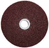 Scotch-Brite(TM) Metal Finishing Wheel, Aluminum Oxide, 6 Diameter, 5A Medium, 1 Width  (Pack of 3)