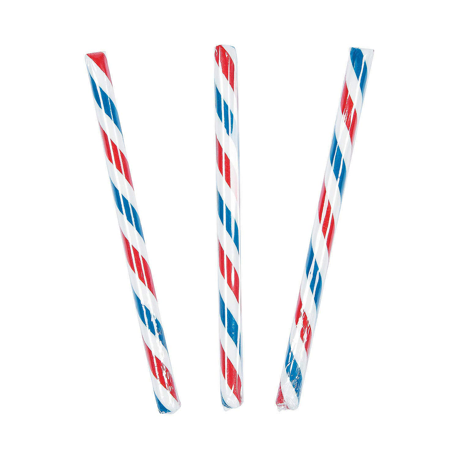 Old Fashioned Patriotic Hard Candy Sticks for Fourth of July (80 Individually Wrapped pieces)