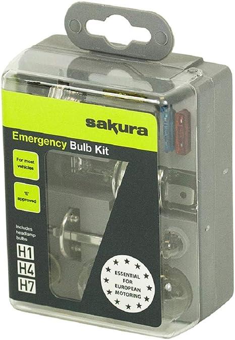 Light H7 H1 Bulb Fuse emergency travel set head lamp car bulbs EU travel kit van