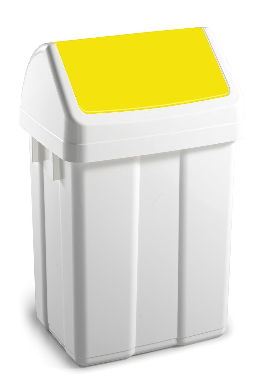TTS Cleaning 00005063 Max Pattumiera in Polipropilene Bianco Coperchio Basculante Giallo Capacit/à 50 litri