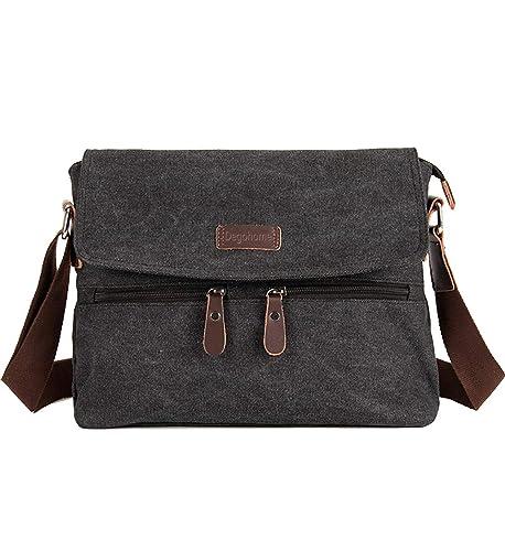 Degohome Canvas Satchel Bag Shoulder Bag Crossbody Sling Bag for Men and  Women (black) b80fb9c40f0e4