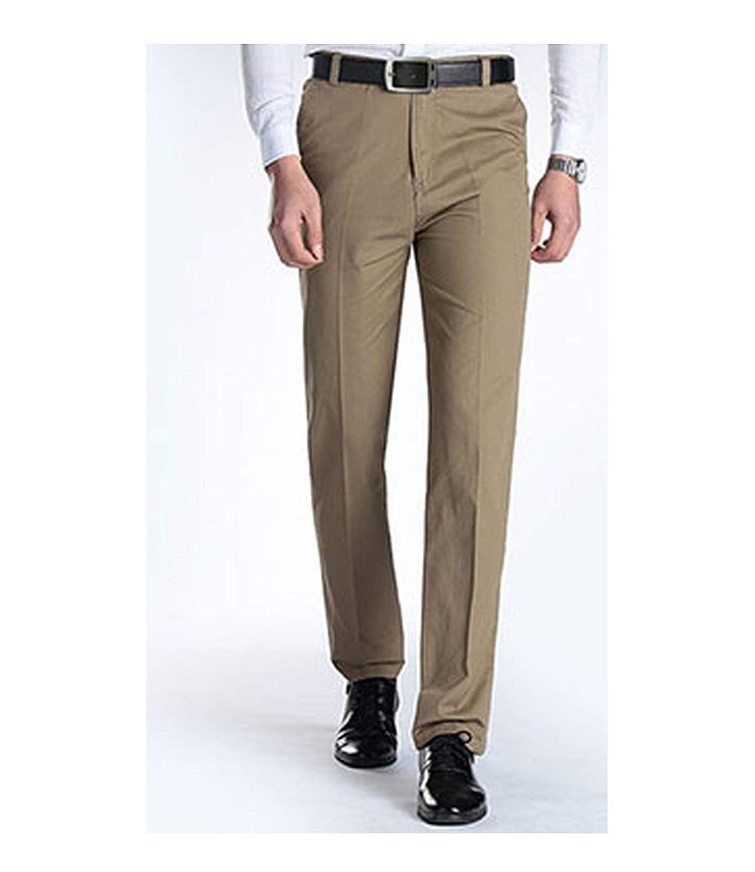 X166 khaki Men Men Men Casual Pants Pants 100% Cotton Straight
