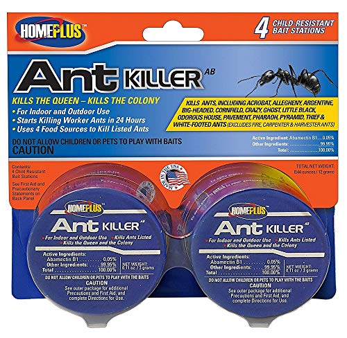 (PIC Homeplus Ant Killer, Child Resistant Bait Stations, 6 Count (Pack of 2))