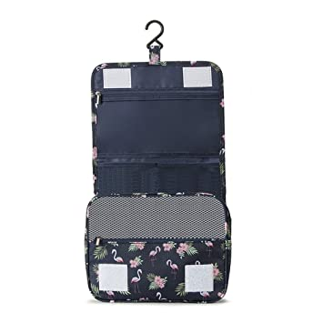 Amazon.com   Hanging Necessary Wash Toiletry Makeup Bag Waterproof Beauticians  Organizer Travel Cosmetic Bags For Womens Mens Toiletry Bag   Beauty 38543a55b01ca