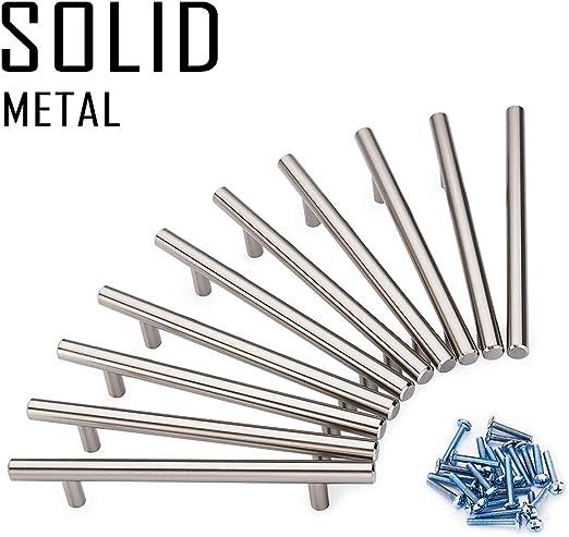 Barras de acero inoxidable para tirador de armario de cocina o ba/ño 256 mm