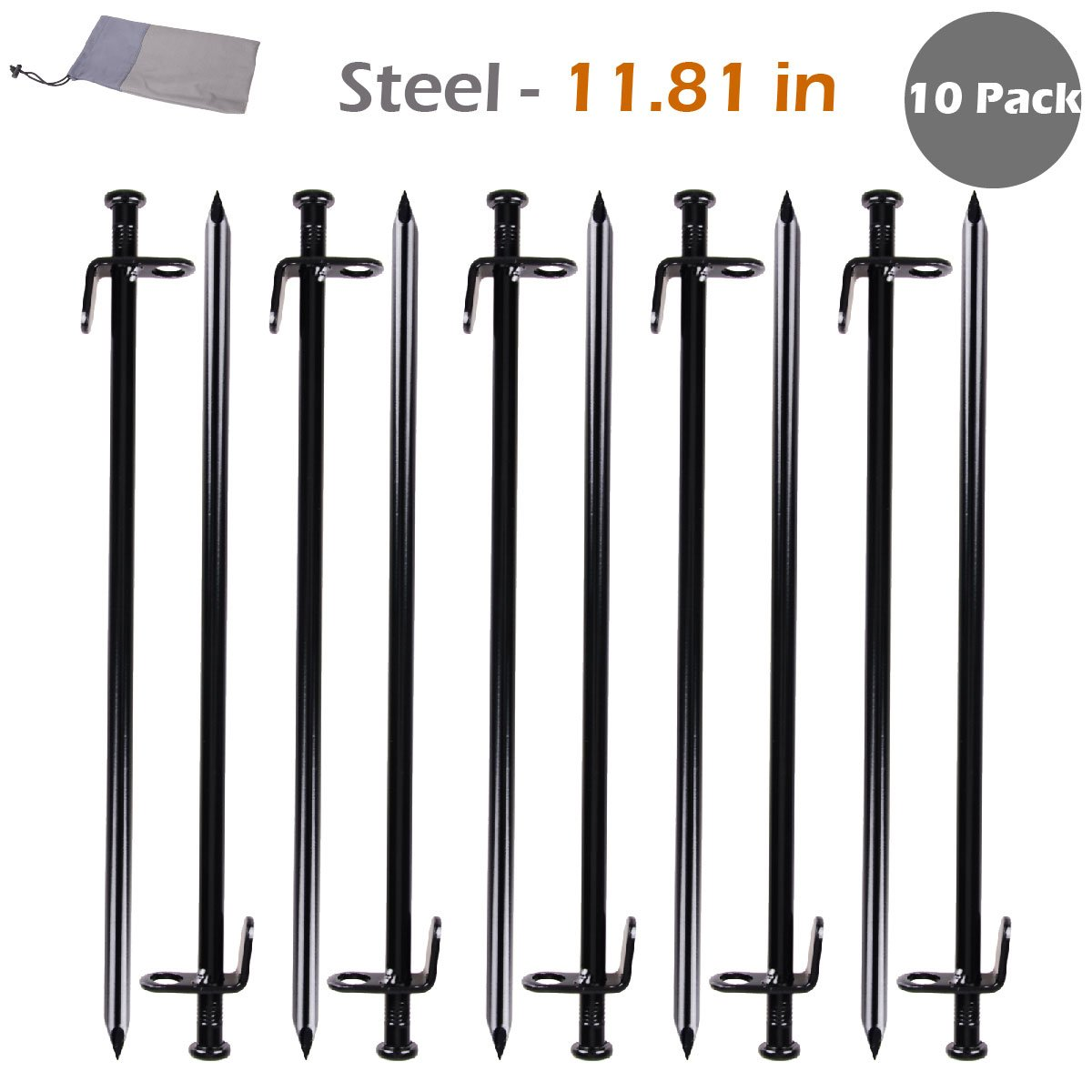 Triwonder Tende per tondini in acciaio per carichi pesanti Tamburi per tacchi per impronte Solido per picchetti