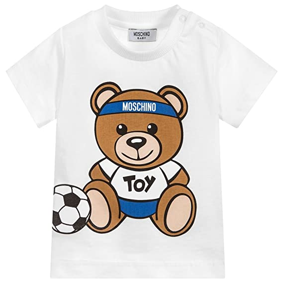 1dc5f63d363bec Moschino T-Shirt Orsacchiotto Calciatore 12M: Amazon.co.uk: Clothing