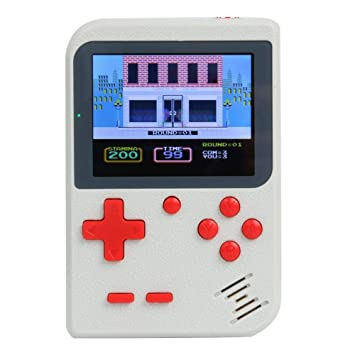 Everpert The Diwali Game Card Accessories Video Game Console Retro Handheld Game Player Built-in 500 Games (White)