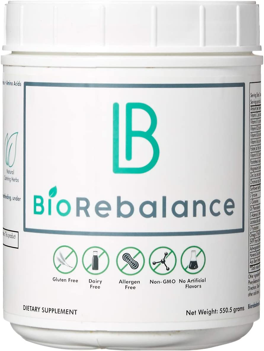 BioRebalance – Nutrient Support – Potent Mood Booster for Stress Relief, Liver Brain Support, Dopamine Serotonin Stack w SAM-E, Ashwagandha, Amino Acids – Pure Powder Formula
