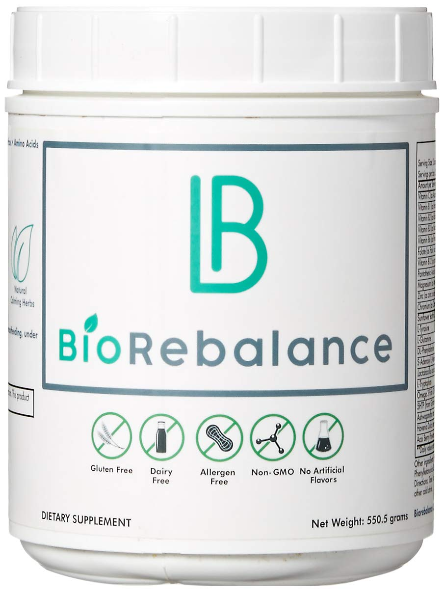 BioRebalance - Nutrient Support - Potent Mood Booster for Stress Relief, Liver & Brain Support, Dopamine & Serotonin Stack w/SAM-E, Ashwagandha, Amino Acids - Pure Powder Formula