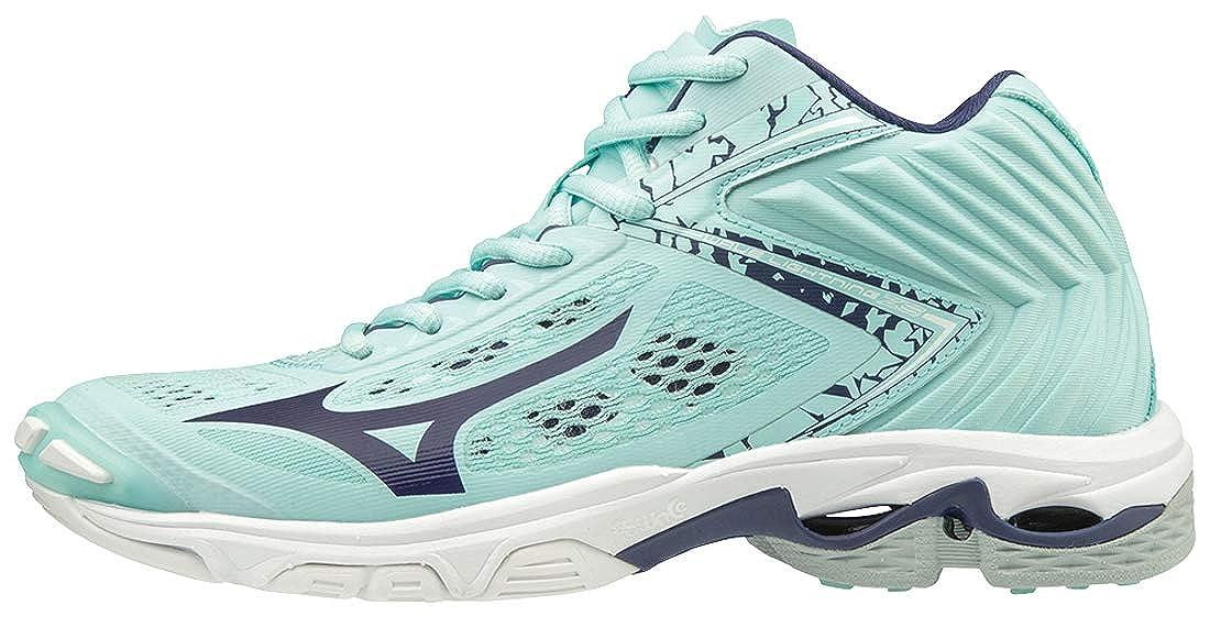 Bleu (bleulumière Astralaura bleuturquoise 28) 38 EU Mizuno Wave lumièrening Z5 Mid, Chaussures de Volleyball Femme