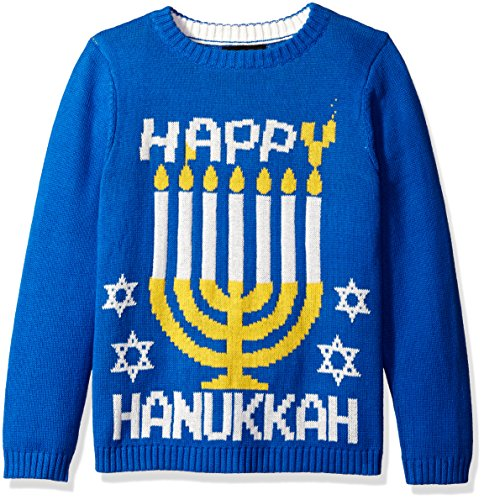 Blizzard Bay Big Boys' Happy Hanukkah Menorah, Blue/Yellow, Medium