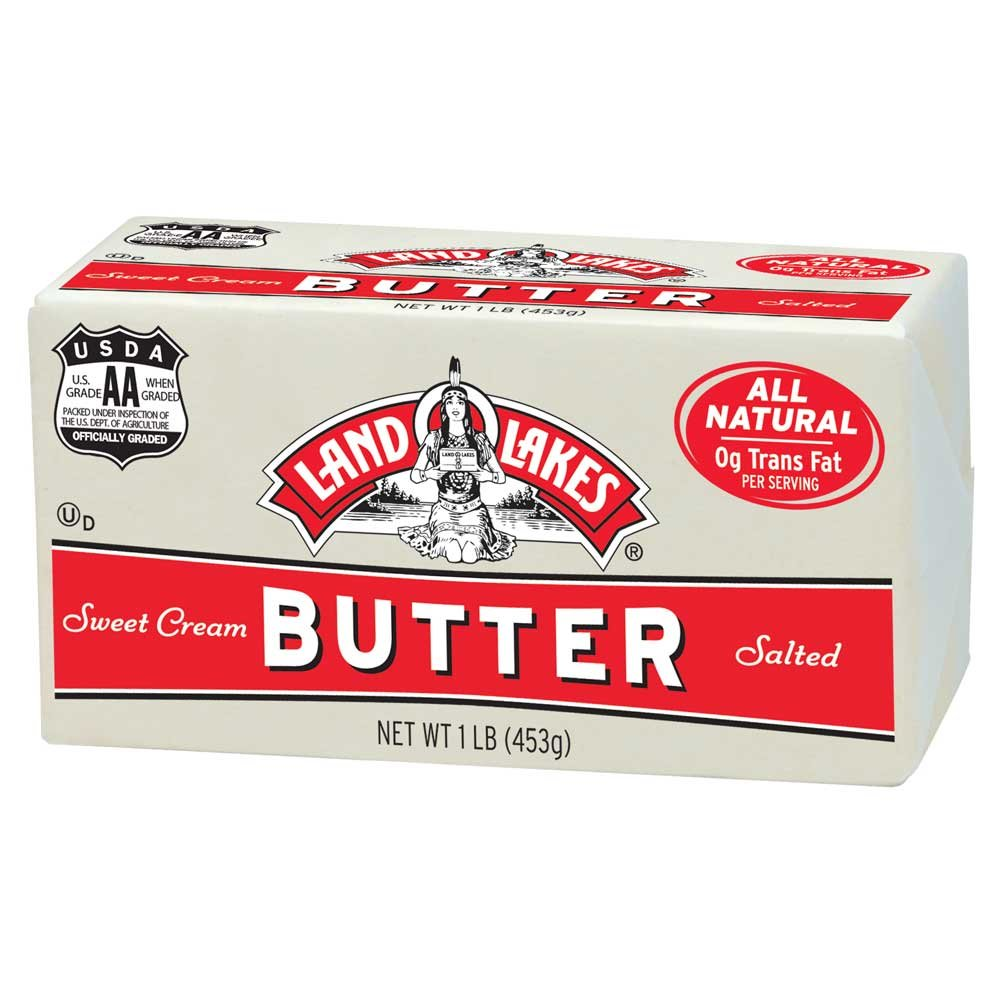 Land O Lakes Solid Primarosa Salted Butter, 1 Pound -- 36 per case. by Land O Lakes