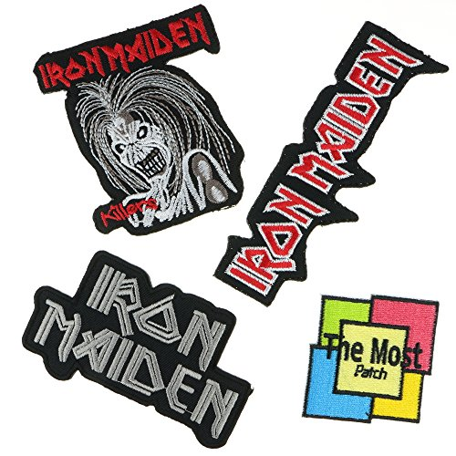 Lot of 4 (3+1) Iron Maiden Music Heavy Metal Rock Songs Embroidered Iron/Sew On Patch,Variations