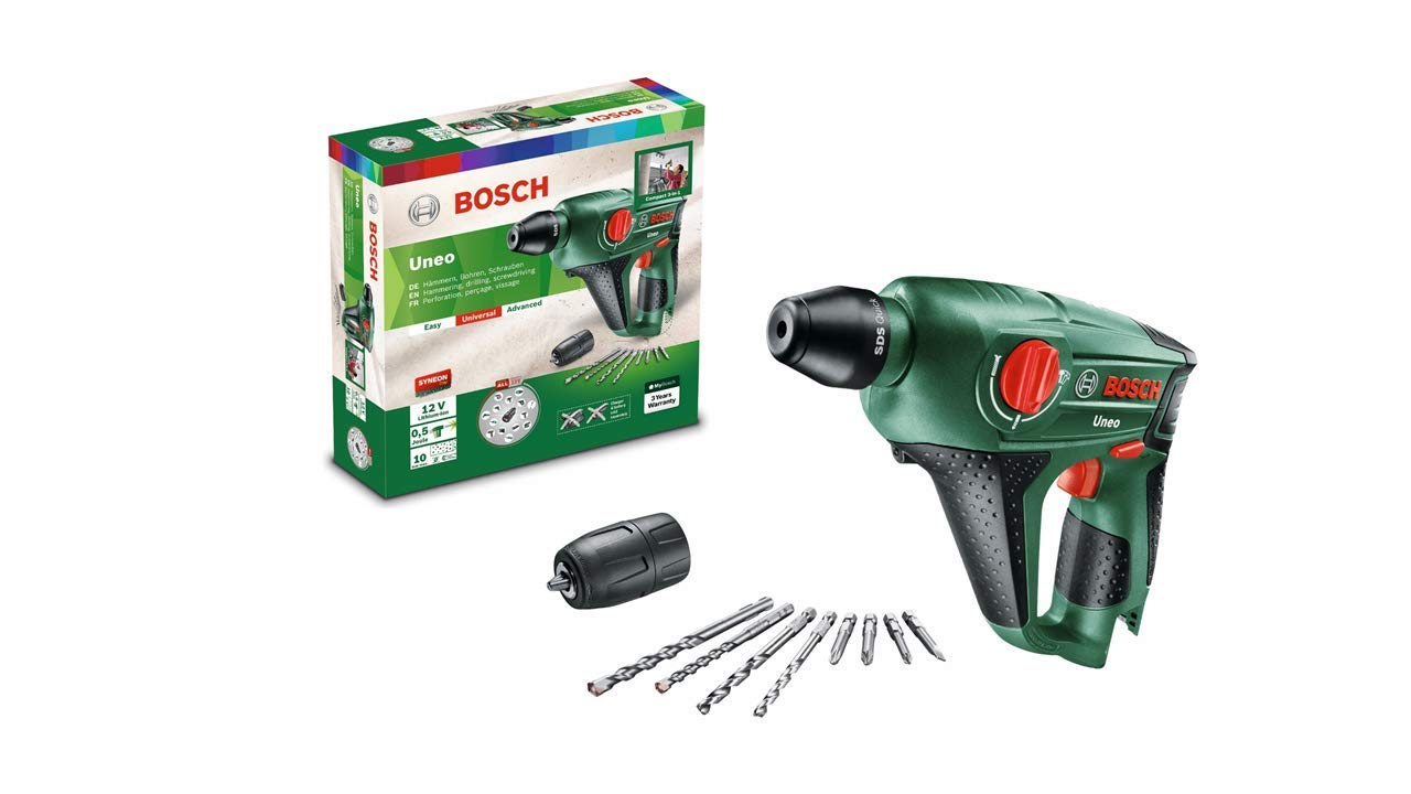 Bosch Uneo 12 Cordless Hammer Drill (Without Battery and Charger):  Amazon.co.uk: DIY & Tools