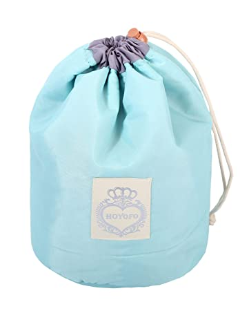 b8af94af65f9c8 Amazon.com   HOYOFO Makeup Bags Travel Drawstring Bags Cosmetics Barrel Bag  Quick Packing Storage