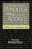 Audition Monologs for Student Actors II, Roger Ellis, 1566080738