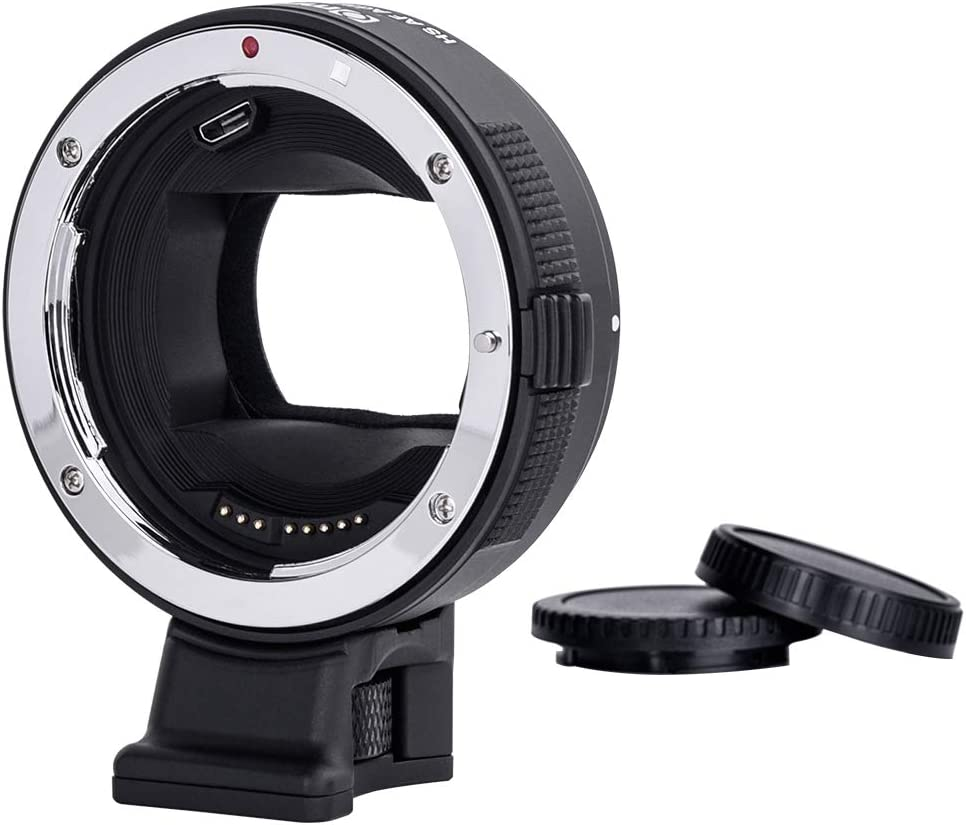 V22 Version Commlite for Canon EF//EF-S Lens to Sony E-Mount Cameras High-Speed Electronic AF Lens Adapter for Sony A7 A9 A7II A7RII A7RIII A6000 A6300 A6500