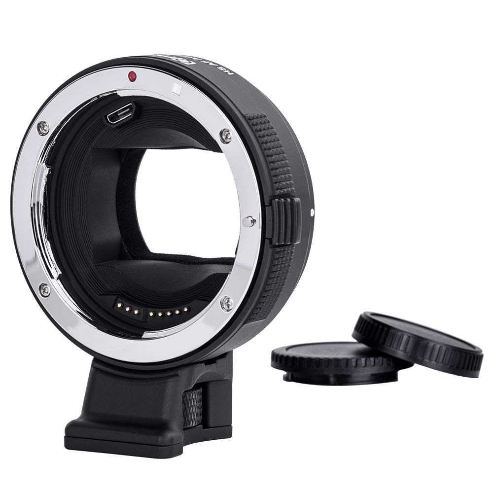 Commlite Canon EF/EF-S Lens to Sony E-Mount Cameras High-Speed Electronic  AF Lens Adapter for Sony A7 A9 A7II A7RII A7RIII A6000 A6300 A6500 (V22