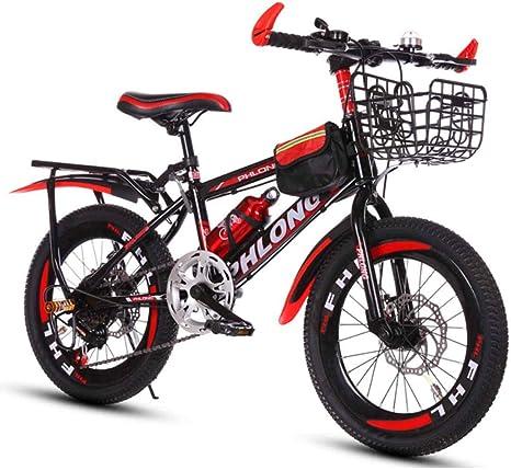 MUYU Bicicleta de montaña con Marco de Acero al Carbono para niños ...
