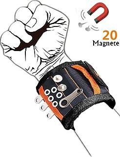 Mu/ñequera Magnetica con 15 Imanes Potentes para Sostener Herramientas Mu/ñequera Imantada Regalos Originales para Hombre Cumpleanos Mujer Padre Pulsera Magnetica Regalos Manitas Bricolaje
