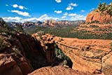 Arizona Landscape Photography Art Print - Picture of Devils Bridge on Clear Day Near Sedona Southwest Travel Decor 5x7 to 30x45