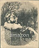 Christmas Eve Santa Claus Waiting for Children Thomas Nast (AKW-582)