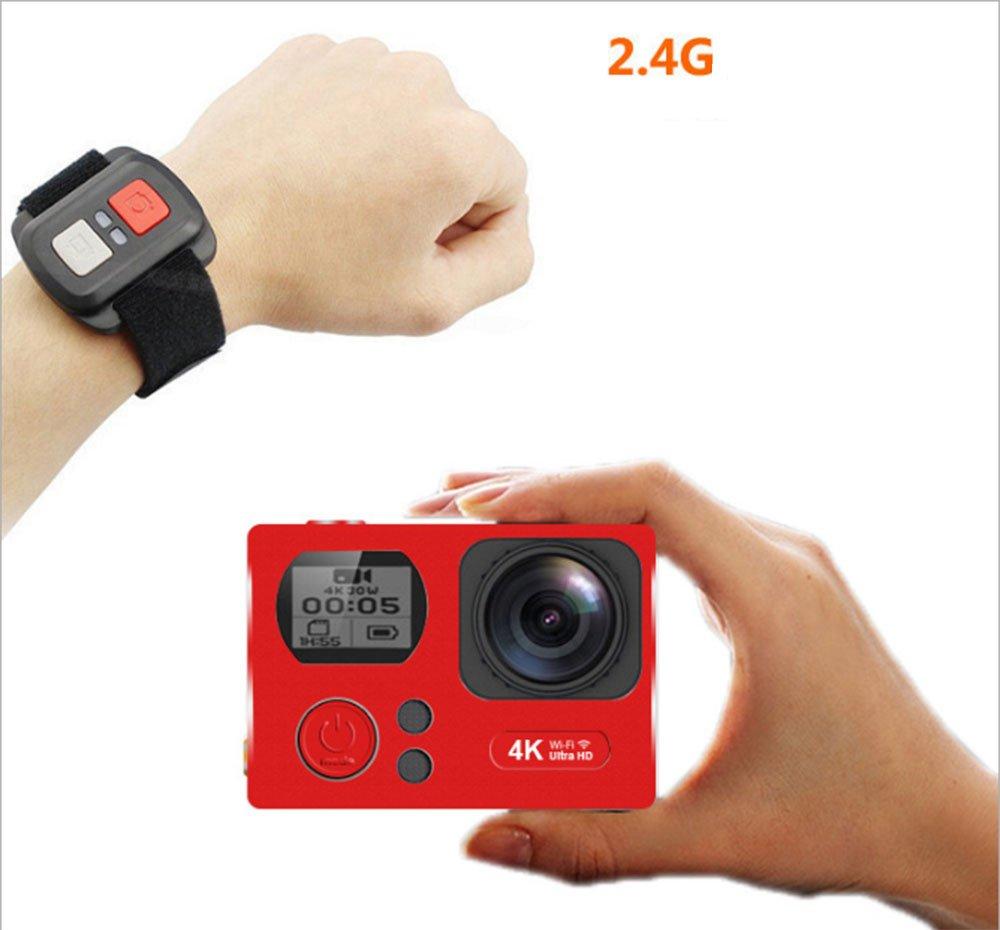 Ccloon at-q302 4 K Action Kameras, WLAN 3840  2160 HD Wasserdicht Sport Kamera 5,1 cm 16 MP 170 Grad Weitwinkel Tauchen Recorder DV Camcorder mit 2.4 G Fernbedienung für Outdoor Sports