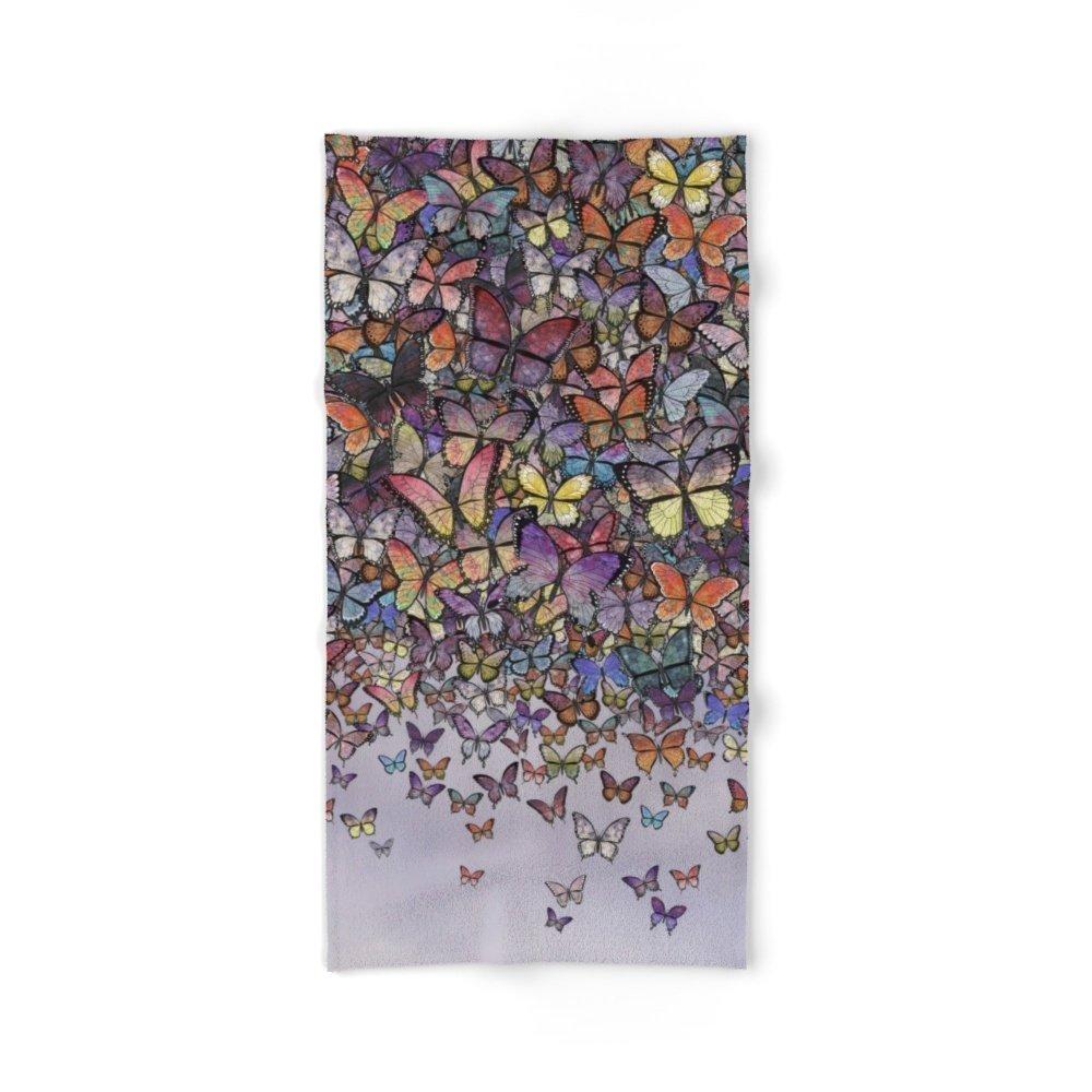 Society6 Butterfly Cascade Bath Towel 64''x32''