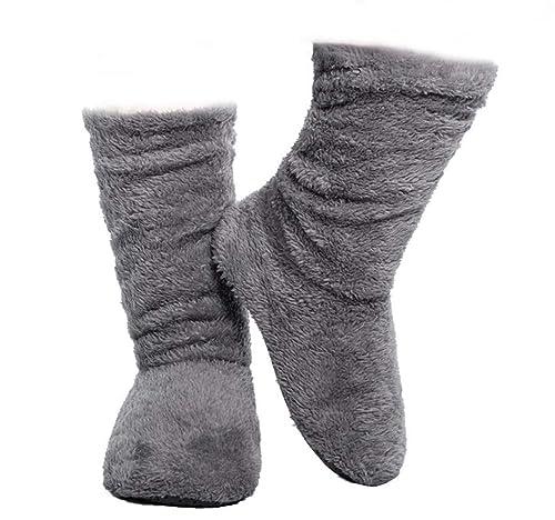 5d99917740c FRALOSHA Women s Slipper Sock Coral Velvet Indoor Spring-Autumn Super Soft  Warm Cozy Fuzzy Lined