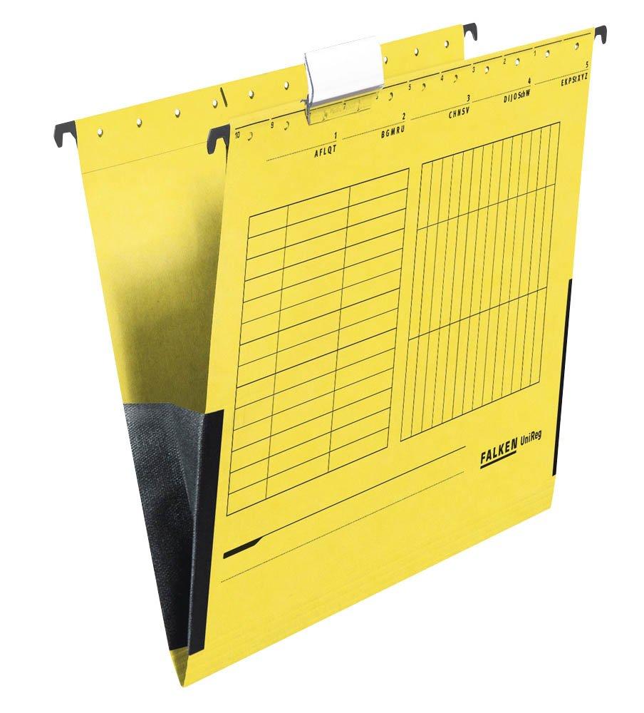 FALKEN 25 plaqu/ées uNIREG//jaune format a4 230 g//m /²