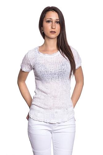 Abbino 8431-7 Camisetas Tops Camisas para Mujer - Hecho EN Italia - 6 Colores - Transición Primavera...