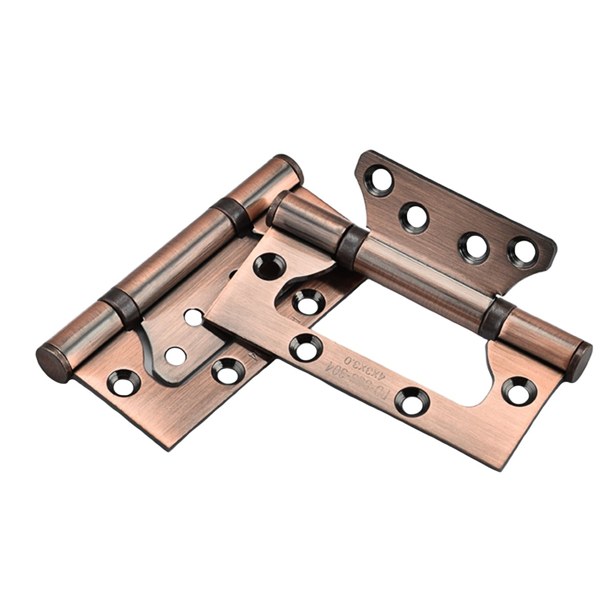 RZDEAL A Pair SU304G 5.25 inch Non-Mortise Bi-Fold Door Mute Balls Hinge Stainless Steel; Red Ancient Bronze
