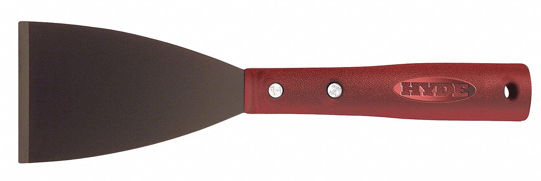 Stiff Scraper with 3'' Carbon Steel Blade, Red