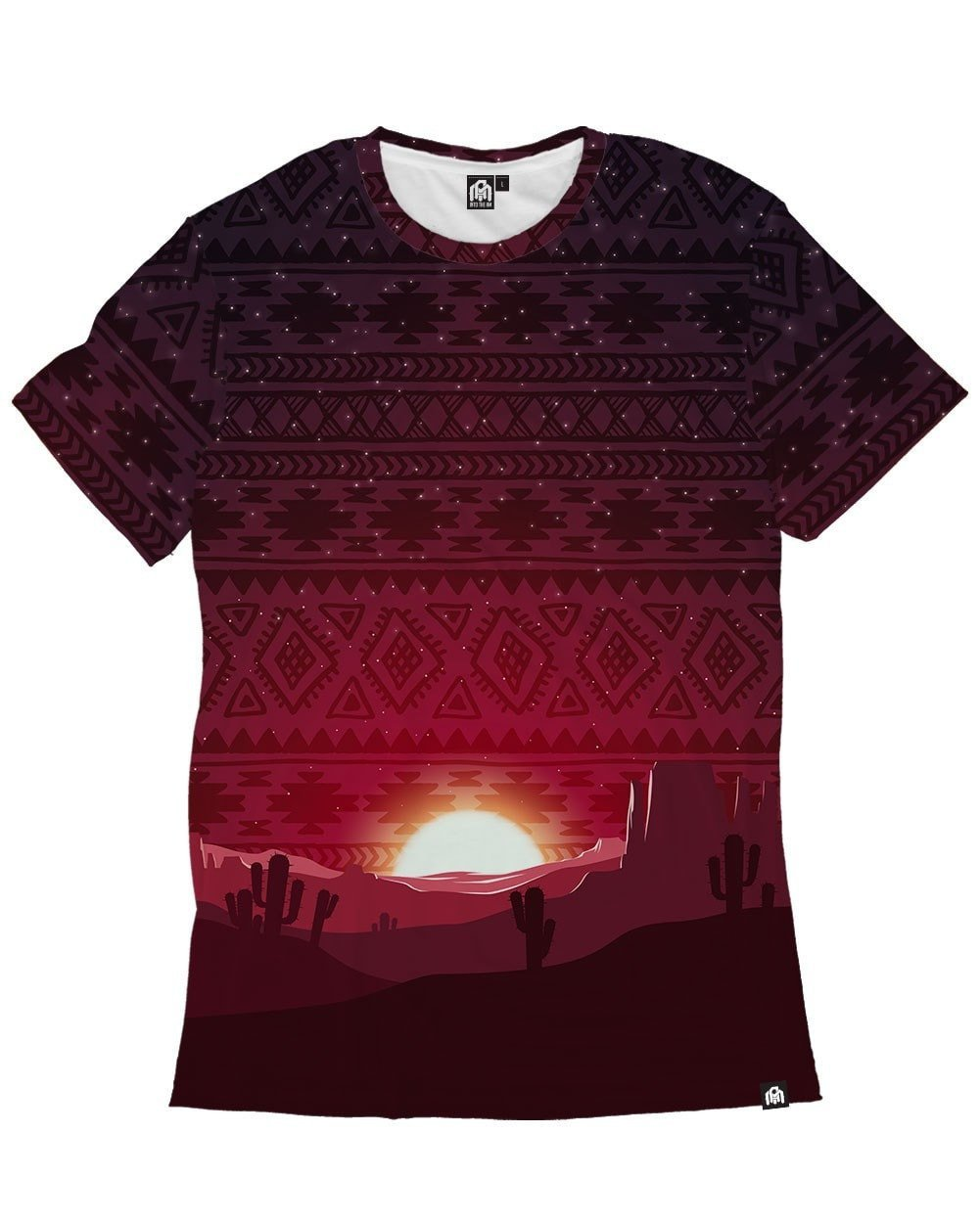 INTO THE AM Aztec Sunset Men's Casual Tee Shirt (Small)