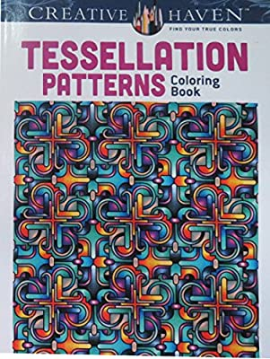 Amazon Dover Creative Haven Tessellation Patterns Coloring Book