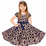 Girls Vintage Swing Floral Lace Dress for Tea Party Church