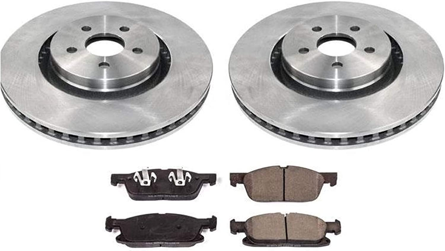 Front Brake Rotors Brake Pads For Ford Edge 15-18 All Wheel Drive W// 345MM Rotor