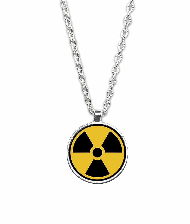 Amazon Radiation Hazard Symbol Pendant Necklace Handmade