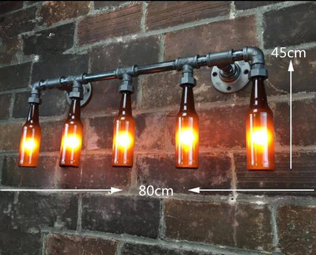 Leuchte Flur Style : Mulang retro industrial style creative flasche led rohr wand lampe
